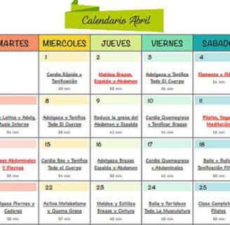 Calendario de entrenamiento