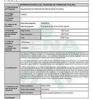 Programa de certificado de competencia en soldadura